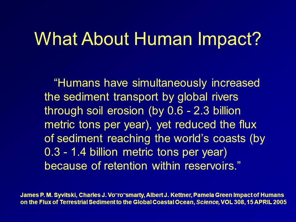 What About Human Impact.