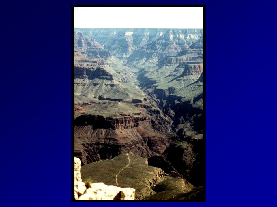 Straight shot with few twists or U-shaped turns The Real Grand Canyon