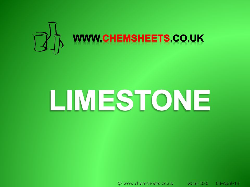 © www.chemsheets.co.uk GCSE 026 08-April-13