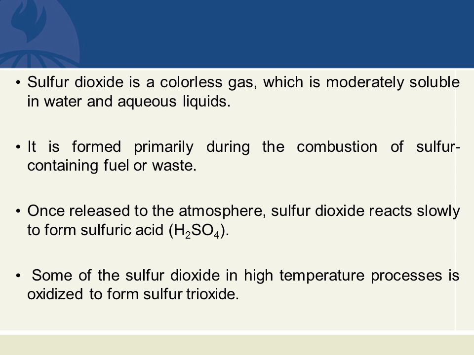 Limestone is the alkali most often used to react with the dissolved sulfur dioxide.
