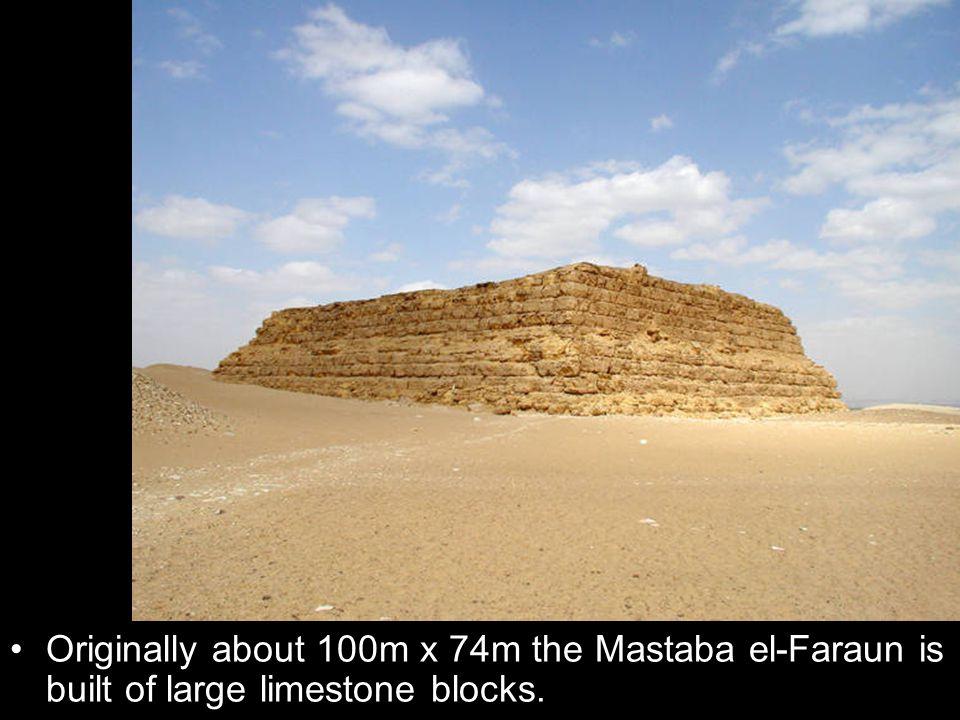 Originally about 100m x 74m the Mastaba el-Faraun is built of large limestone blocks.