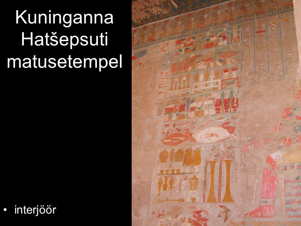 Kuninganna Hatšepsuti matusetempel interjöör