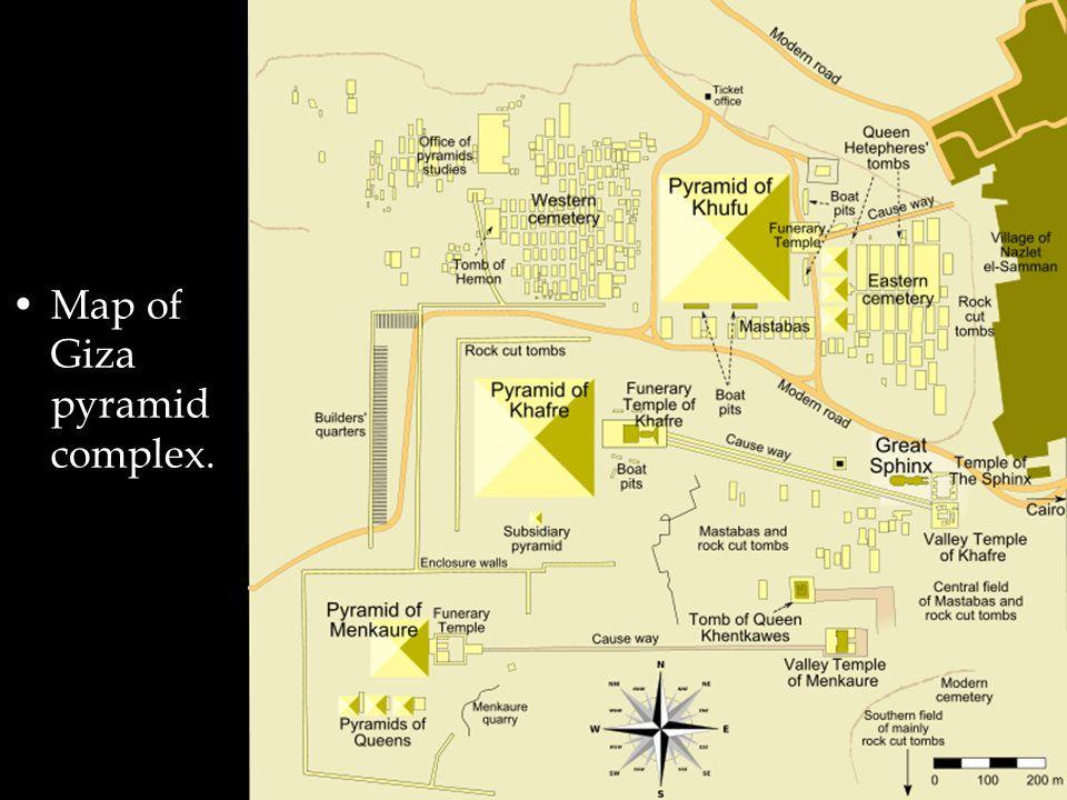 Map of Giza pyramid complex.