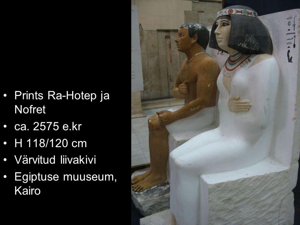 Prints Ra-Hotep ja Nofret ca. 2575 e.kr H 118/120 cm Värvitud liivakivi Egiptuse muuseum, Kairo