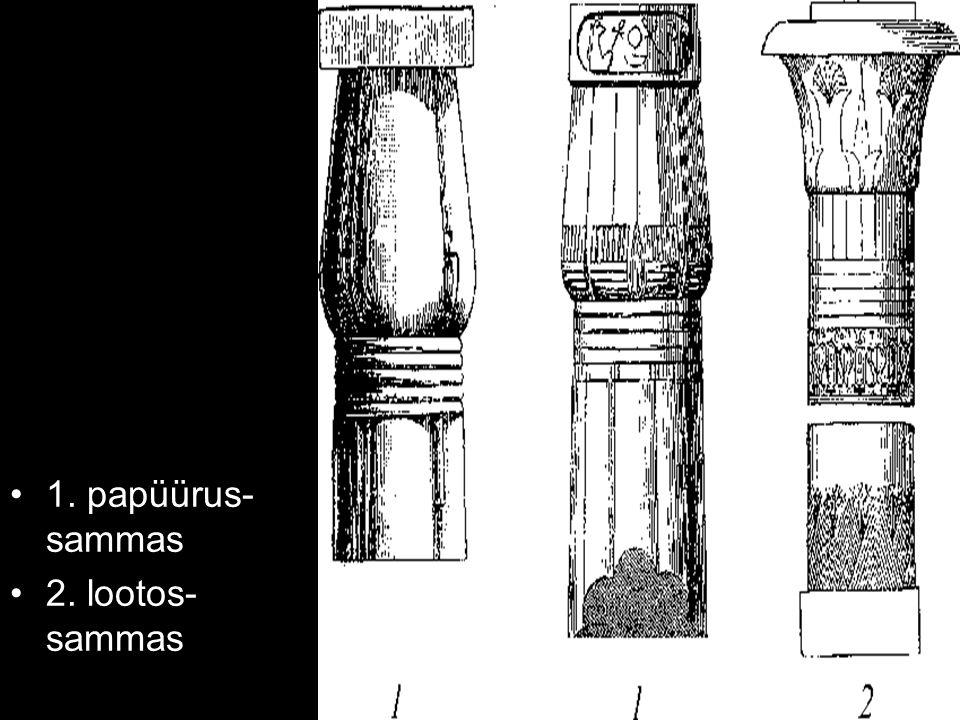 1. papüürus- sammas 2. lootos- sammas