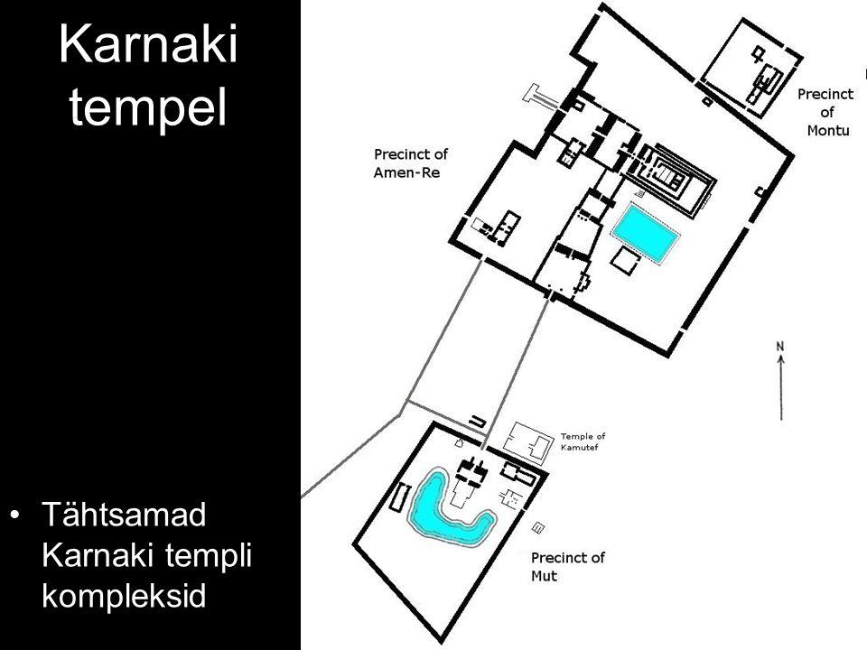 Karnaki tempel Tähtsamad Karnaki templi kompleksid