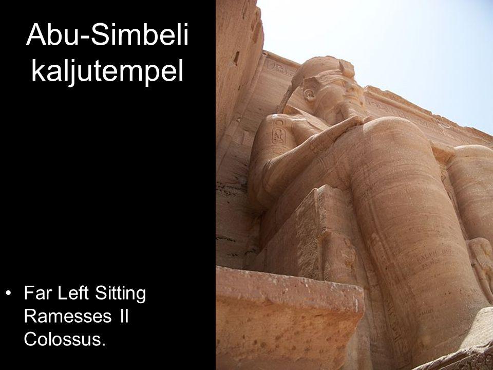 Far Left Sitting Ramesses II Colossus.