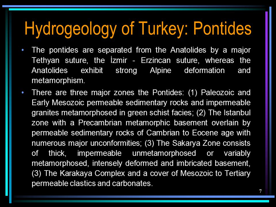 The pontides are separated from the Anatolides by a major Tethyan suture, the İzmir - Erzincan suture, whereas the Anatolides exhibit strong Alpine de