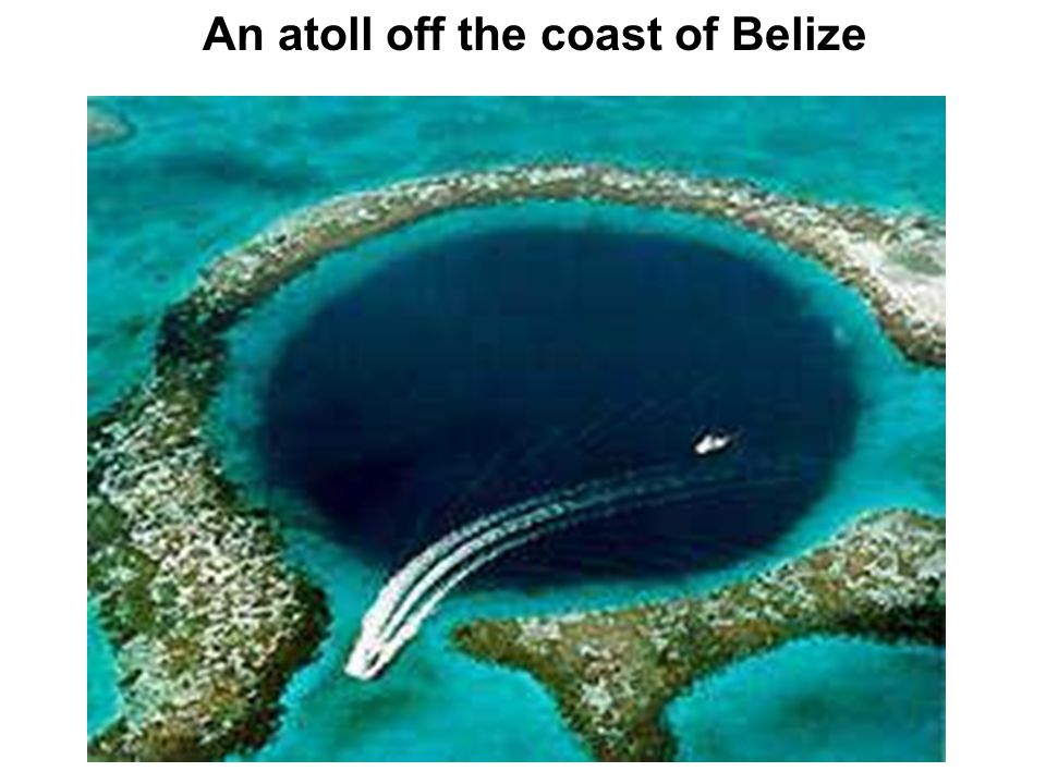 An atoll off the coast of Belize