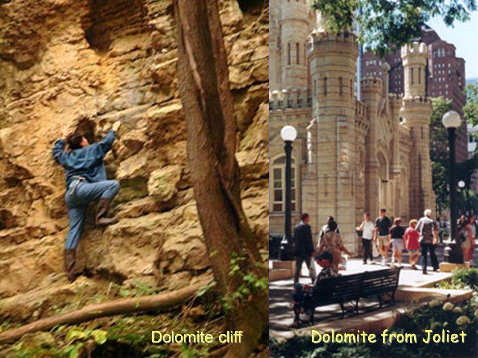 Dolomite from Joliet Dolomite cliff