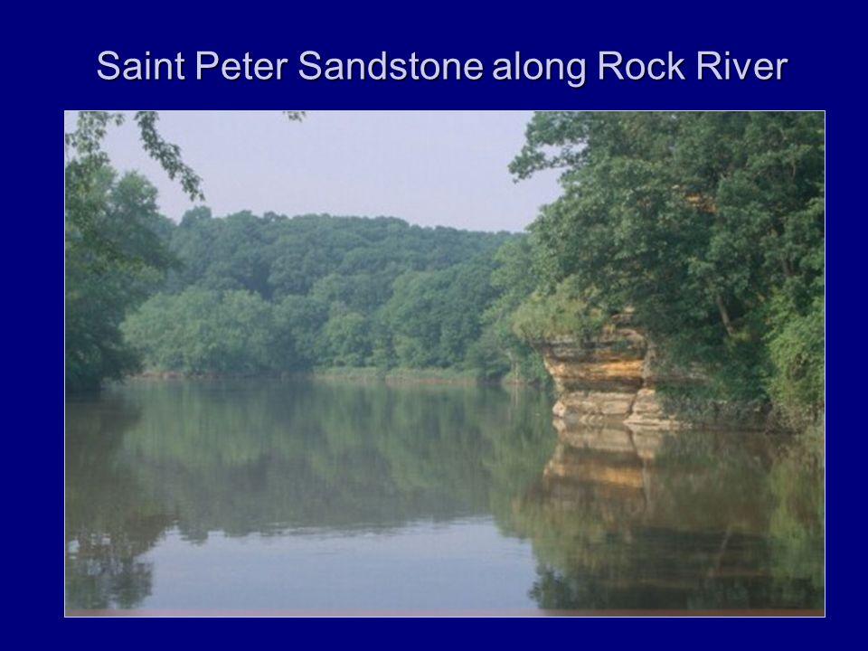 Saint Peter Sandstone along Rock River