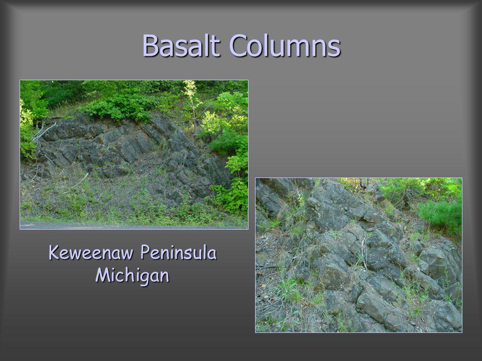 Basalt Columns Keweenaw Peninsula Michigan