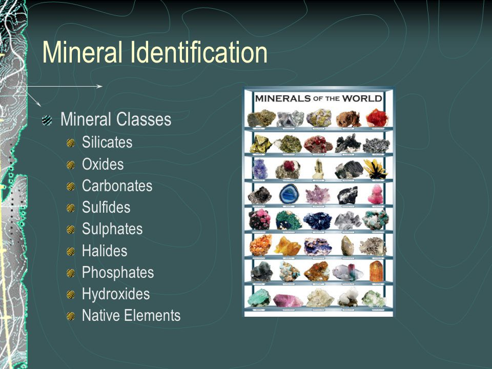 Using Mineral Properties to Identify Minerals Luster Color and Streak Hardness Moh's Scale of Hardness Cleavage Specific Gravity Special Properties
