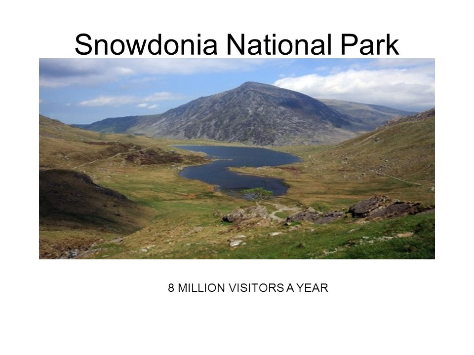 Snowdonia National Park 8 MILLION VISITORS A YEAR