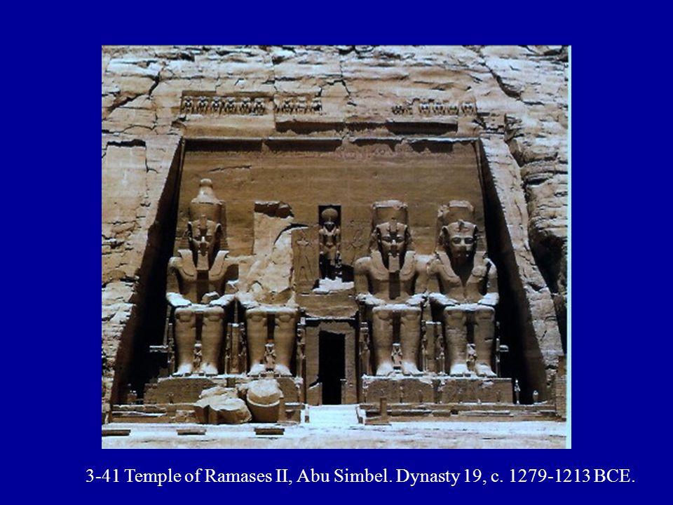 3-41 Temple of Ramases II, Abu Simbel. Dynasty 19, c. 1279-1213 BCE.