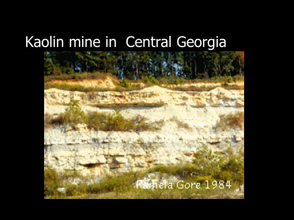 Kaolin mine in Central Georgia