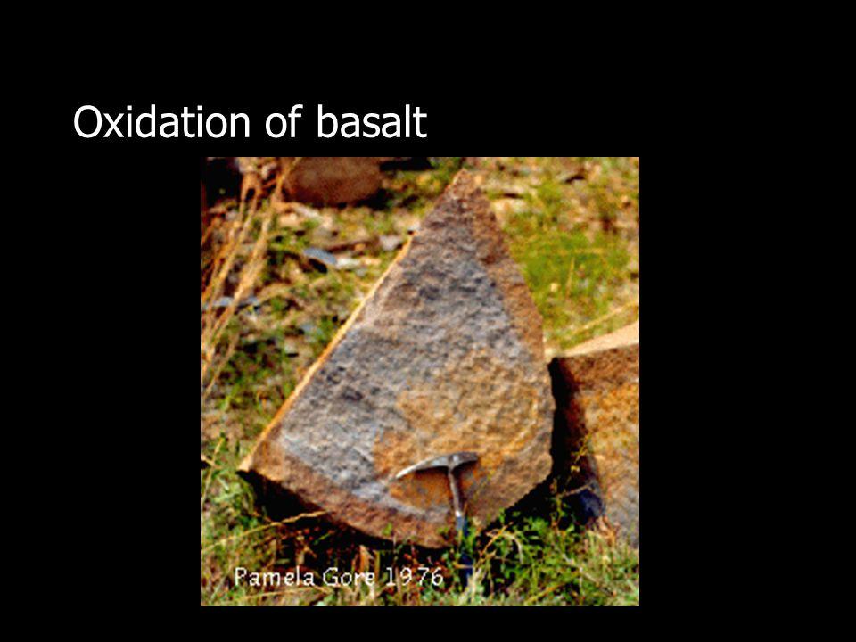 Oxidation of basalt