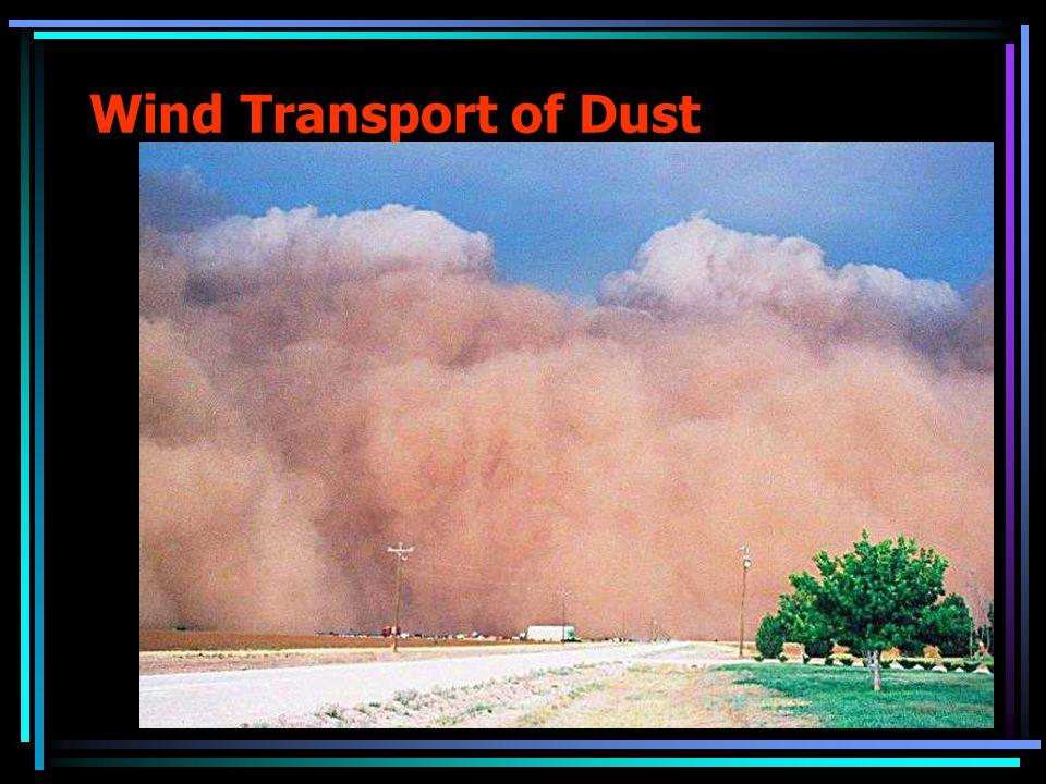 Wind Transport of Dust