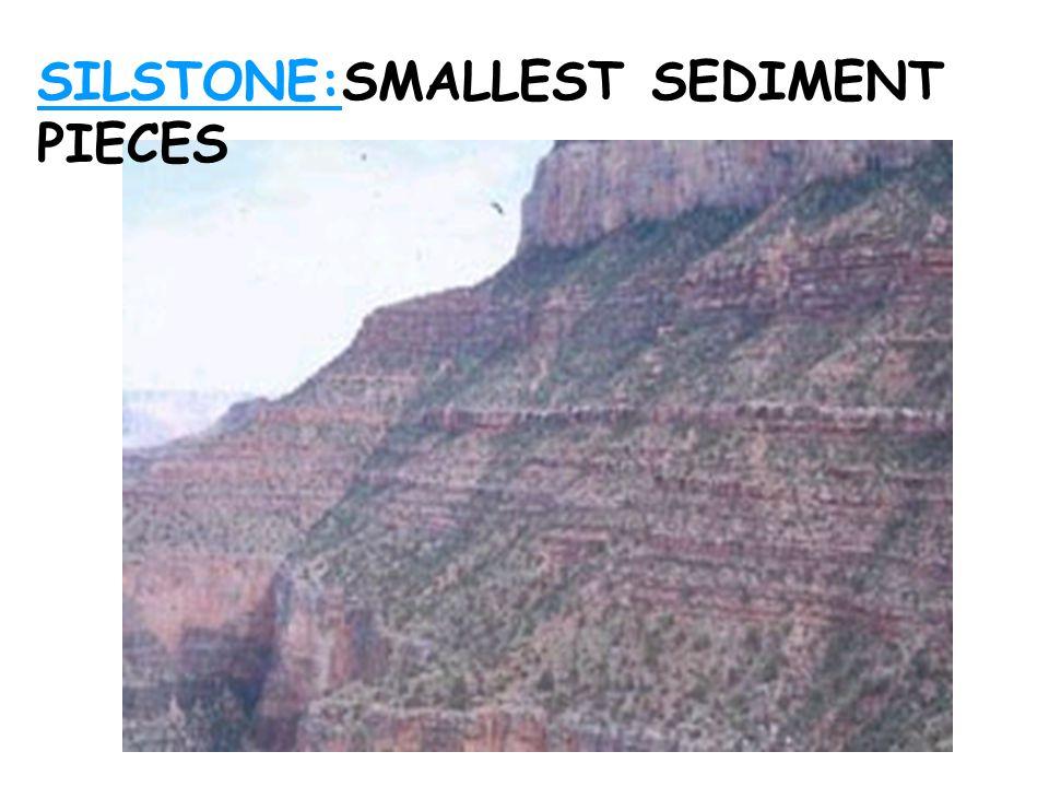 SILSTONE:SMALLEST SEDIMENT PIECES