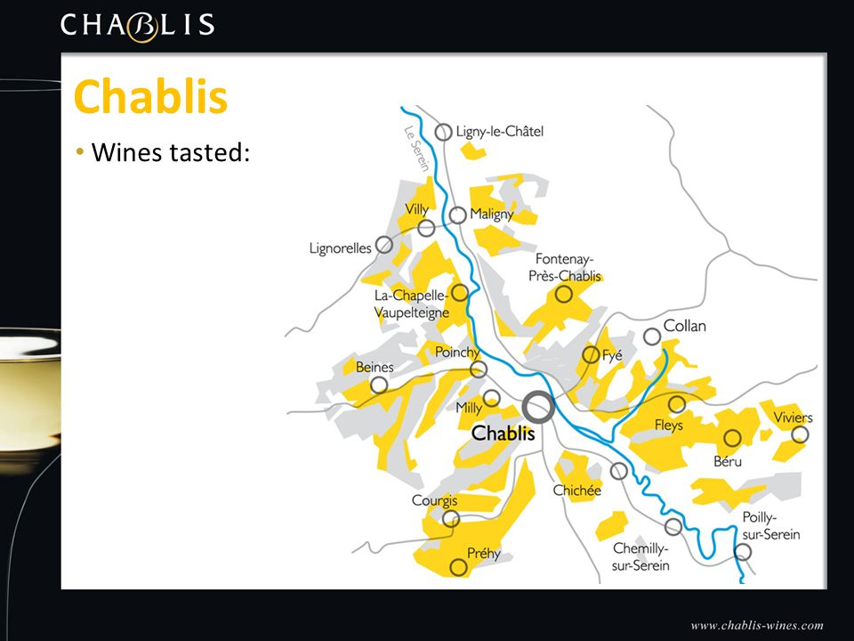 Wines tasted: Chablis