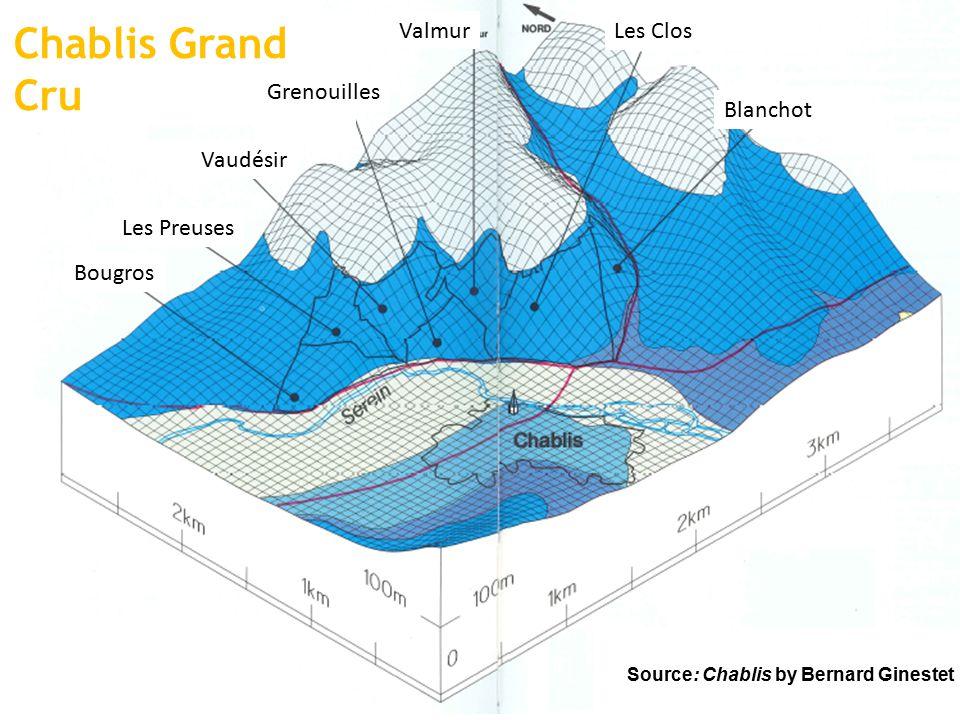 Chablis Grand Cru Bougros Blanchot Les Clos Valmur Grenouilles Vaudésir Les Preuses Source: Chablis by Bernard Ginestet