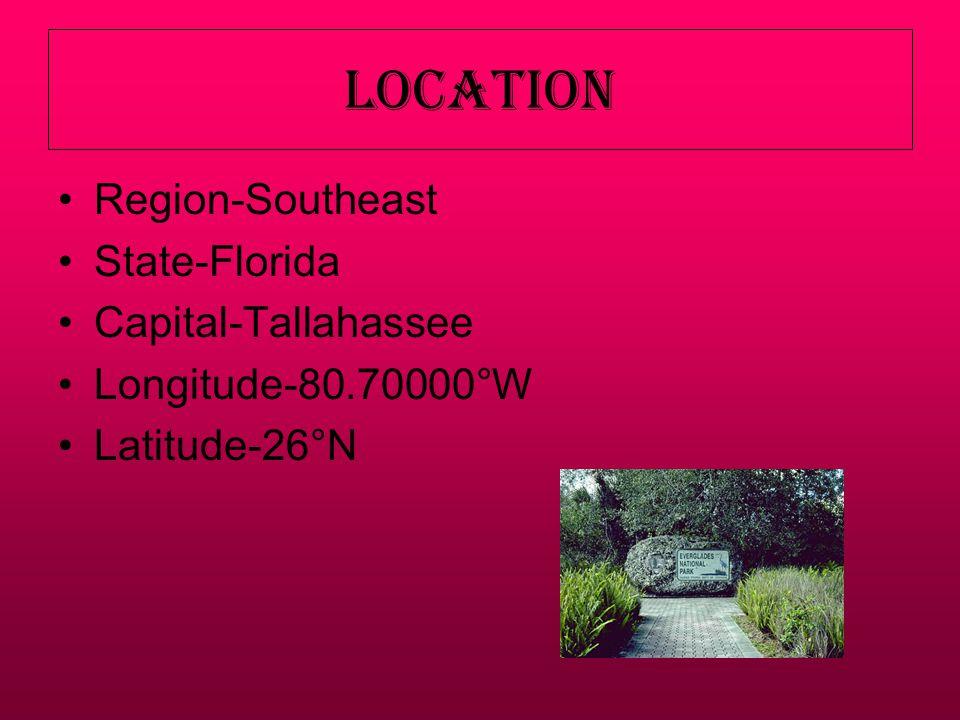 Landforms Everglades has different landforms.