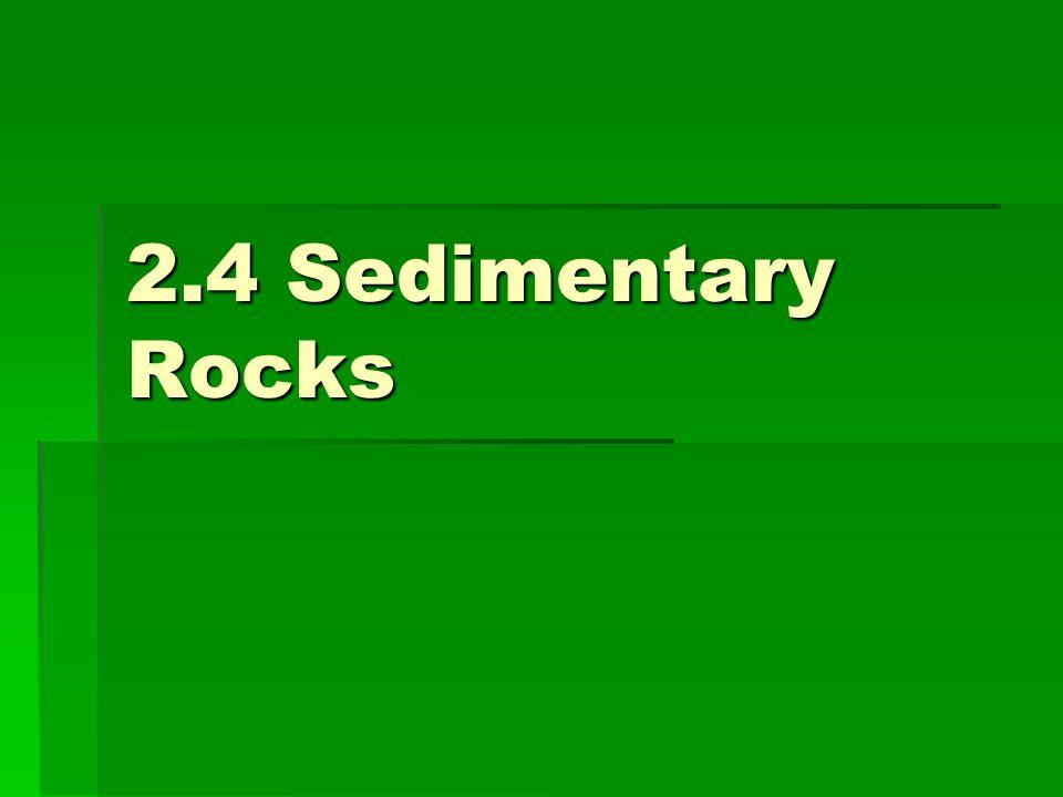 2.4 Sedimentary Rocks