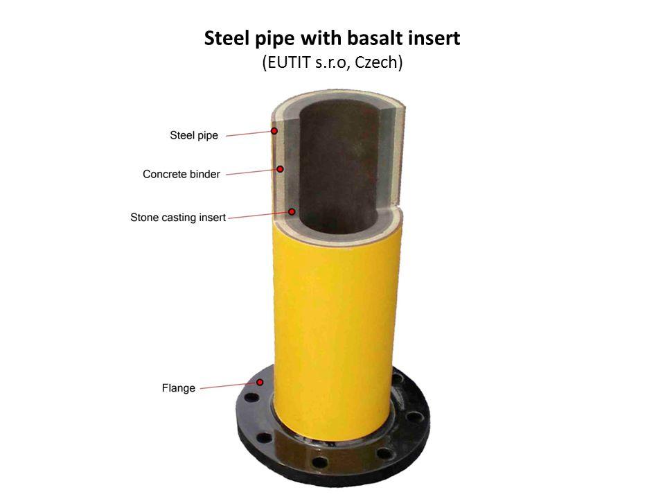 Steel pipe with basalt insert (EUTIT s.r.o, Czech)