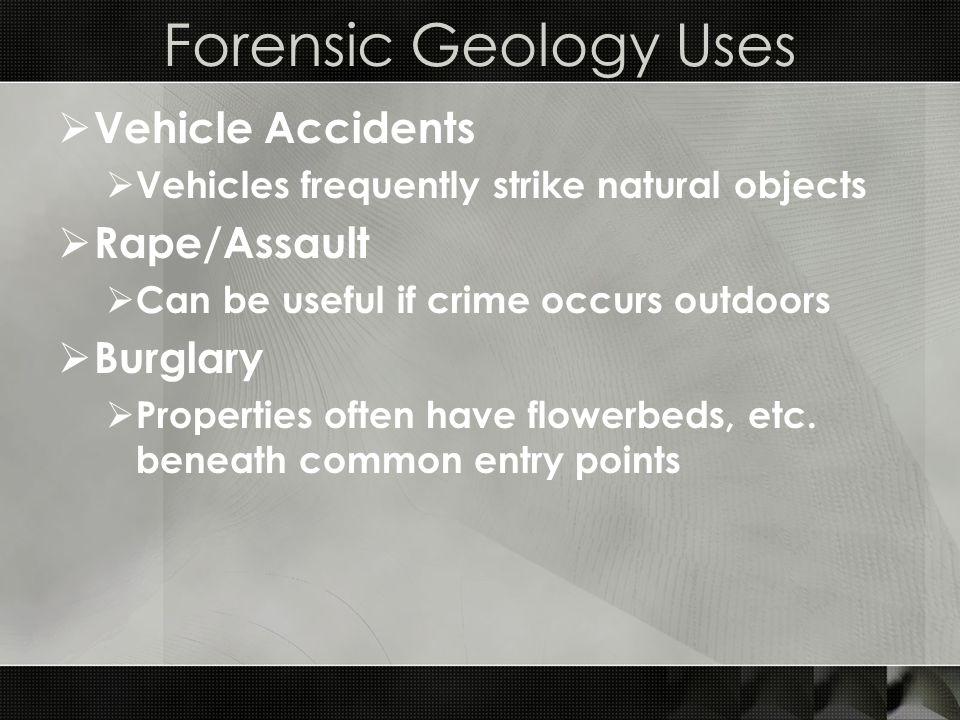 Forensic Petrology Essentials  Sandstone (sed.) and quartzite (meta.)  Typically quartz and feldspar combo.