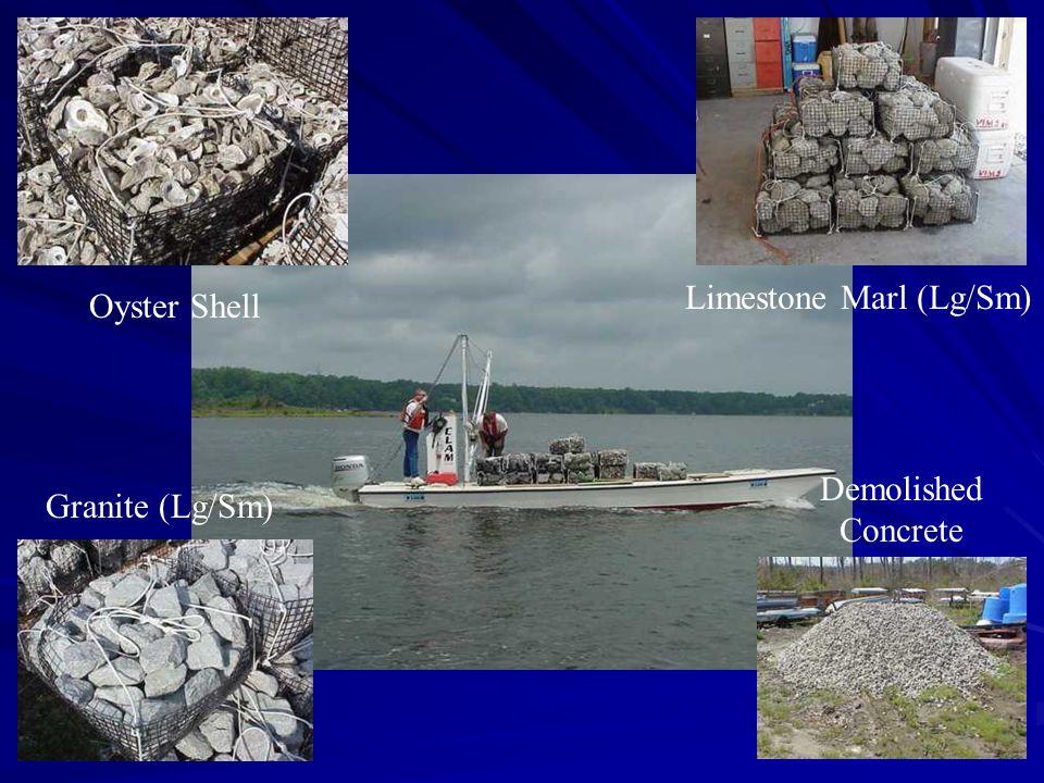 Granite (Lg/Sm) Limestone Marl (Lg/Sm) Oyster Shell Demolished Concrete