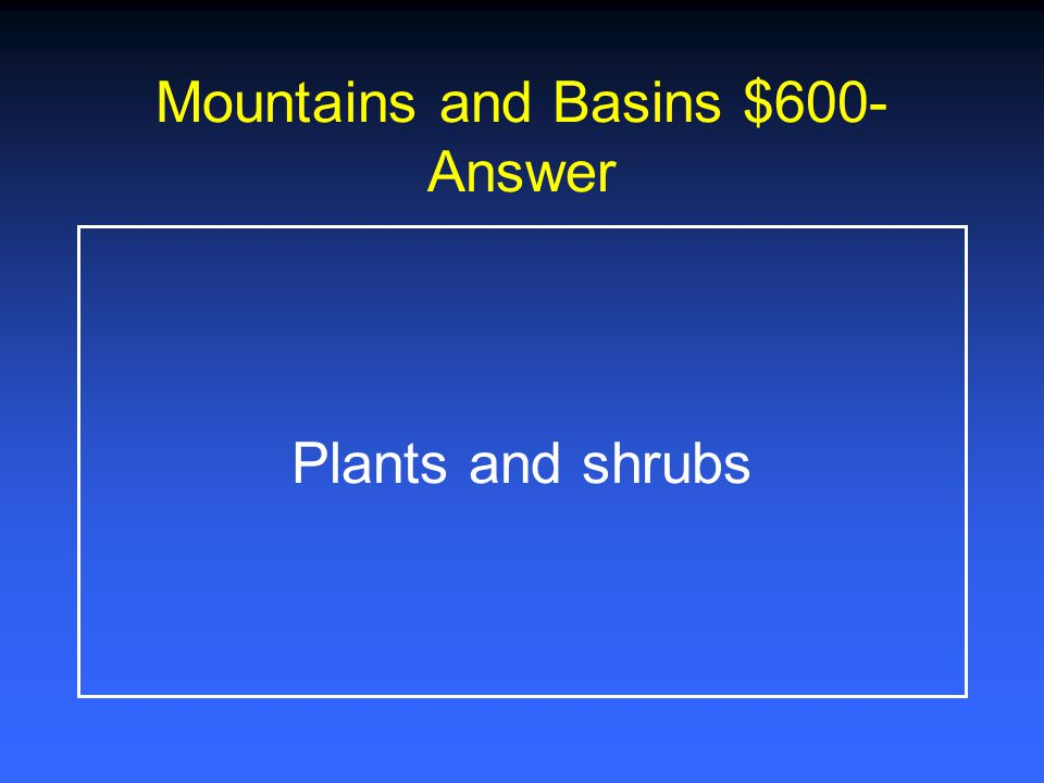 Category 4 $400-Answer Guadalupe Peak-8,749 feet