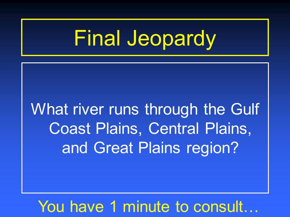 Final Jeopardy Rivers