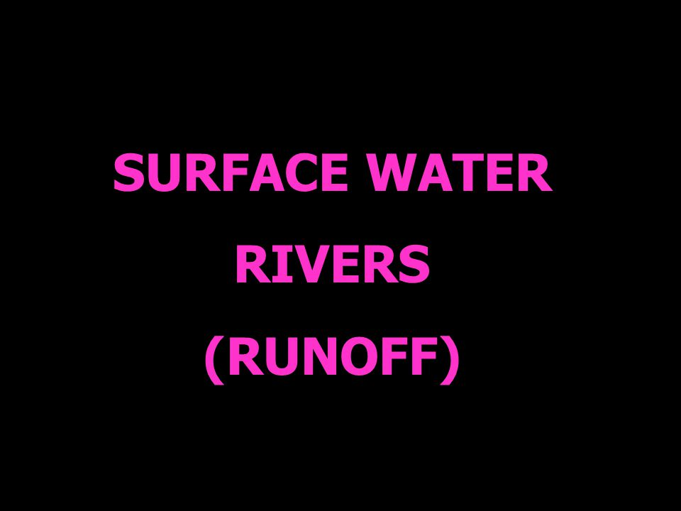 SURFACE WATER RIVERS (RUNOFF)