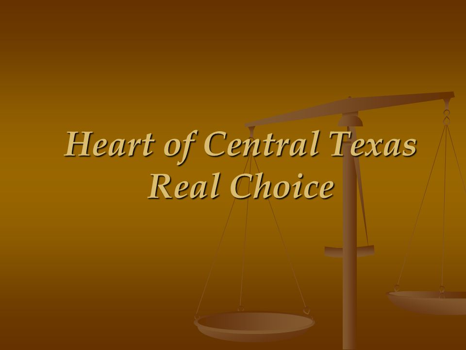 Heart of Central Texas Real Choice: Unprecedented Partnership Commitments to Adhere to Standardized Referral and Follow-Up Protocols: AAAHOTHOT Workforce Board CTAAATemple Help Center (Bell County Human Services) CareLinc NetworkHOT Coalition for the Homeless HOCTILCHOT Rural Transit District CCCMHMRCentral Texas Senior Ministry TDHSFreestone County Senior Services TDPRS/APSBosque County Senior Services Early Childhood/CCCMHMRLimestone County Senior Services CT Veterans Health Care SystemWaco Housing Authority CTCOG/Housing DivisionSalvation Army CT Youth Services Bureau, Inc.United Way CT Workforce Board/Information&Referral SystemCaritas of Waco Hill Country Community Action Assn., Inc.Compassion Ministries CT Council on Alcoholism & Drug AbuseFriend For Life Killeen Help Center (Bell County Human Services)Mission Waco