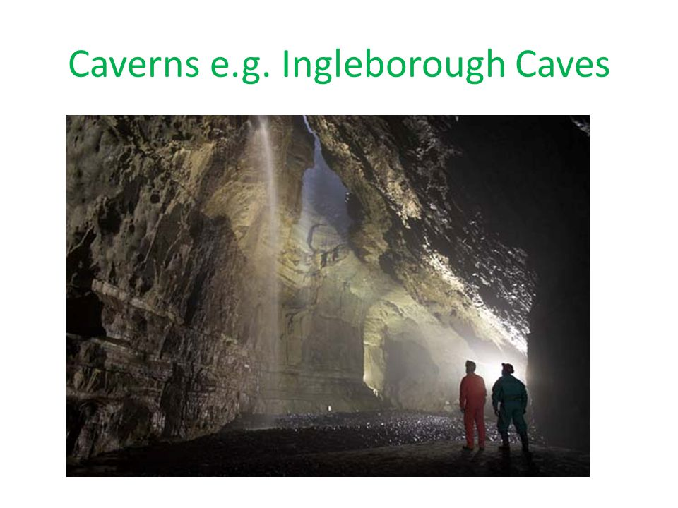 Caverns e.g. Ingleborough Caves