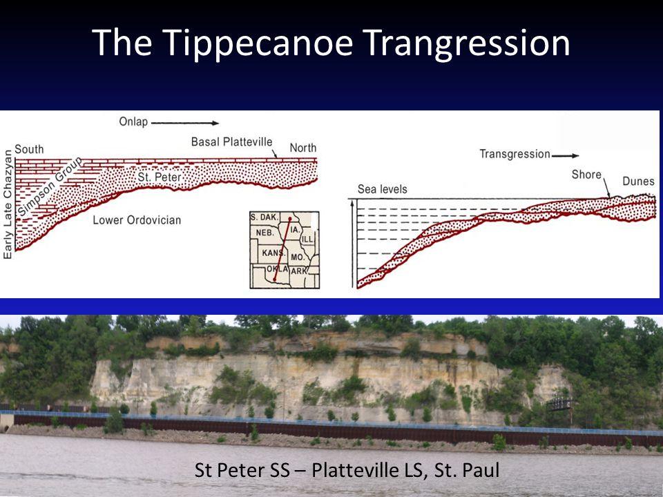 The Tippecanoe Trangression St Peter SS – Platteville LS, St. Paul