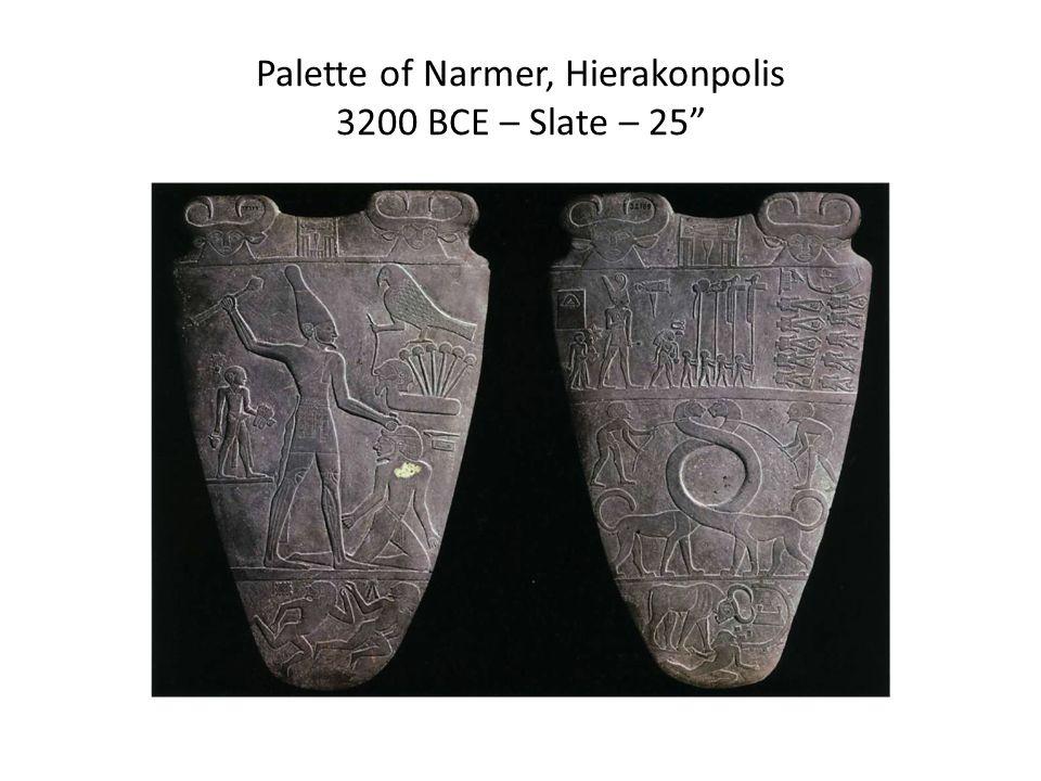 Palette of Narmer, Hierakonpolis 3200 BCE – Slate – 25