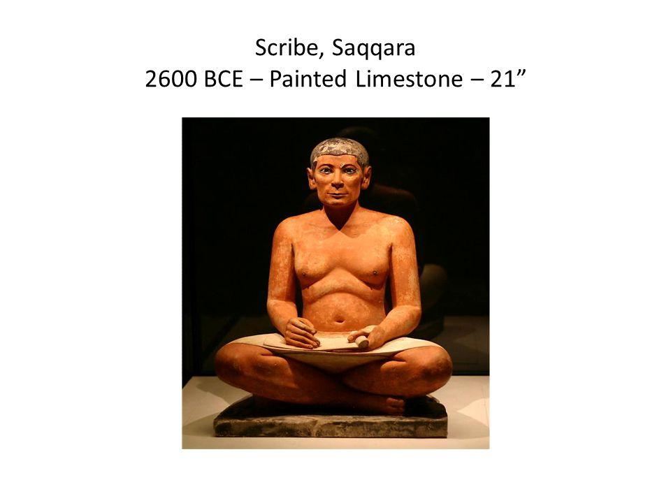 Scribe, Saqqara 2600 BCE – Painted Limestone – 21