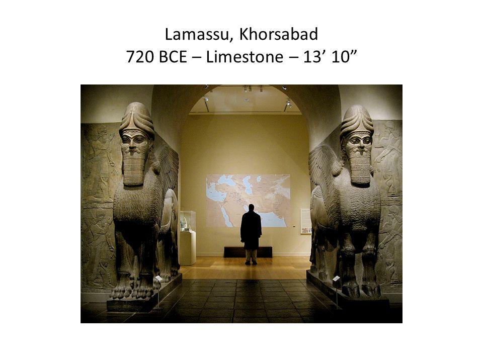 Lamassu, Khorsabad 720 BCE – Limestone – 13' 10