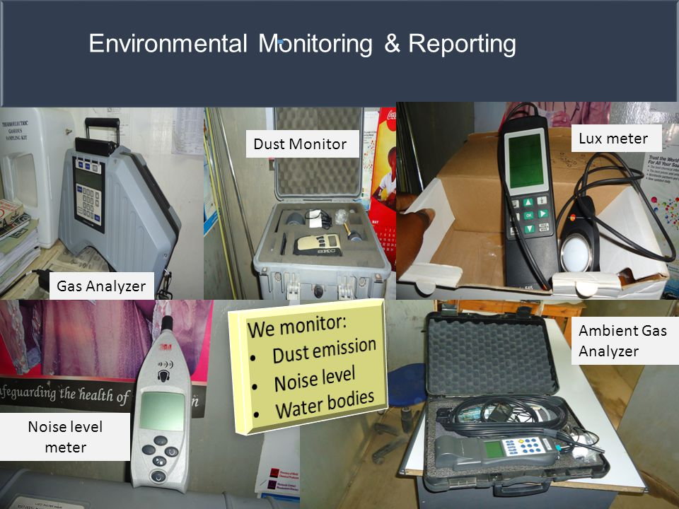 Environmental Monitoring & Reporting Gas Analyzer Dust Monitor Lux meter Ambient Gas Analyzer Noise level meter
