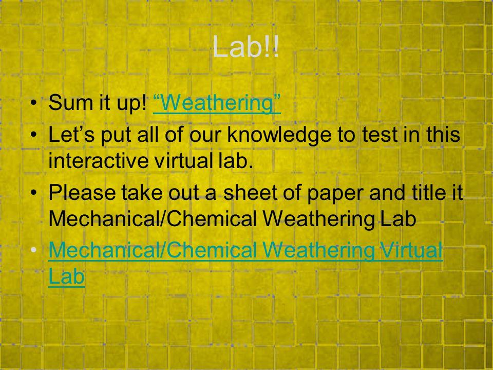 Lab!.Sum it up.