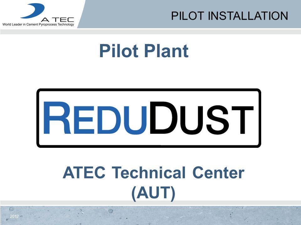 2012 ATEC Technical Center (AUT) Pilot Plant PILOT INSTALLATION