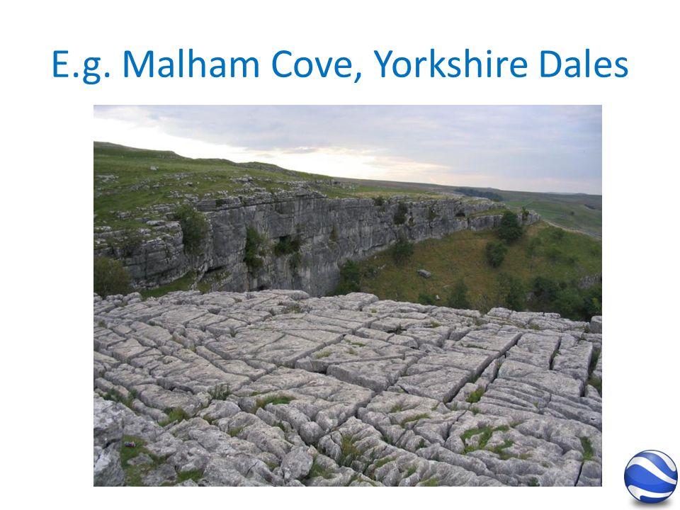 E.g. Malham Cove, Yorkshire Dales