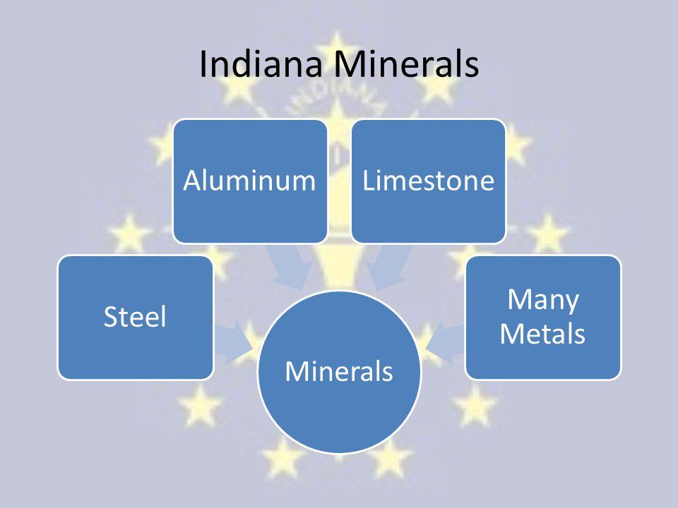 Indiana Minerals Minerals SteelAluminumLimestone Many Metals