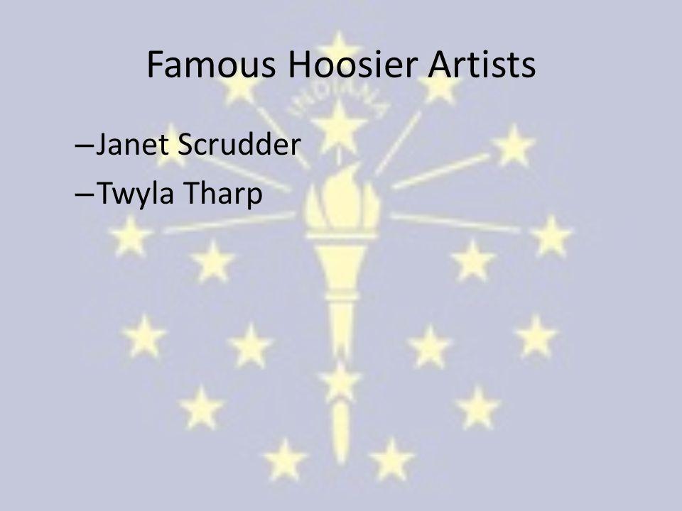 Famous Hoosier Artists – Janet Scrudder – Twyla Tharp
