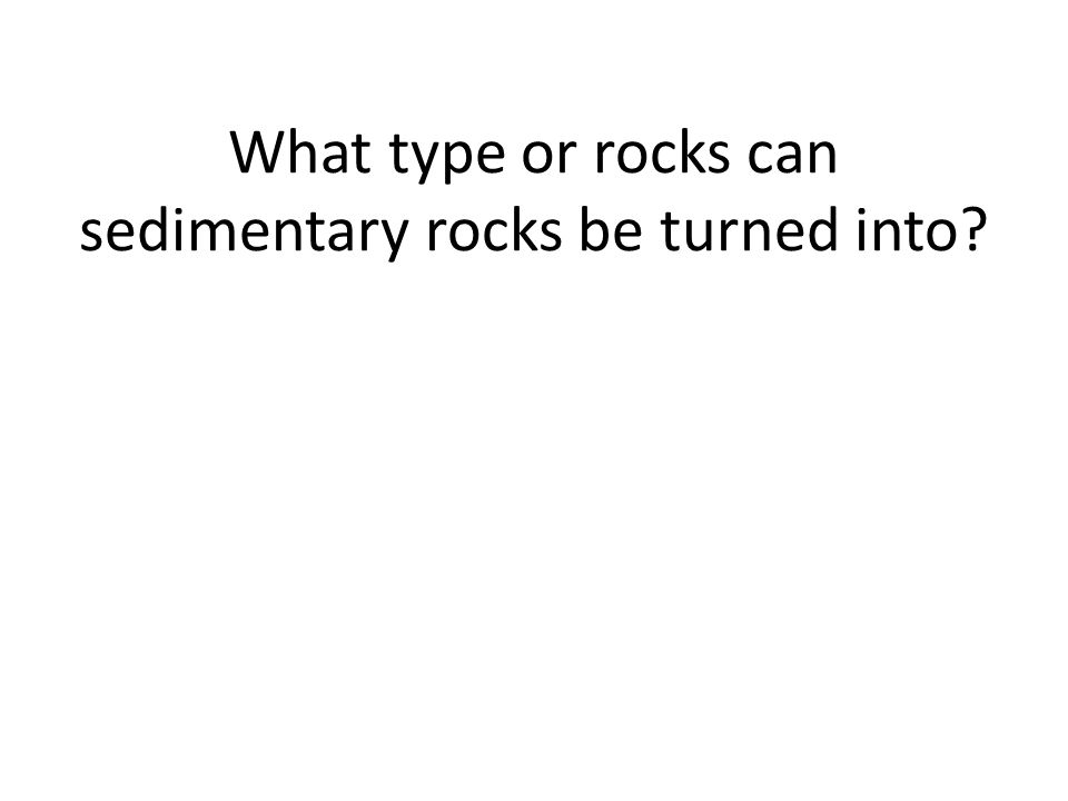 What type or rocks can sedimentary rocks be turned into?