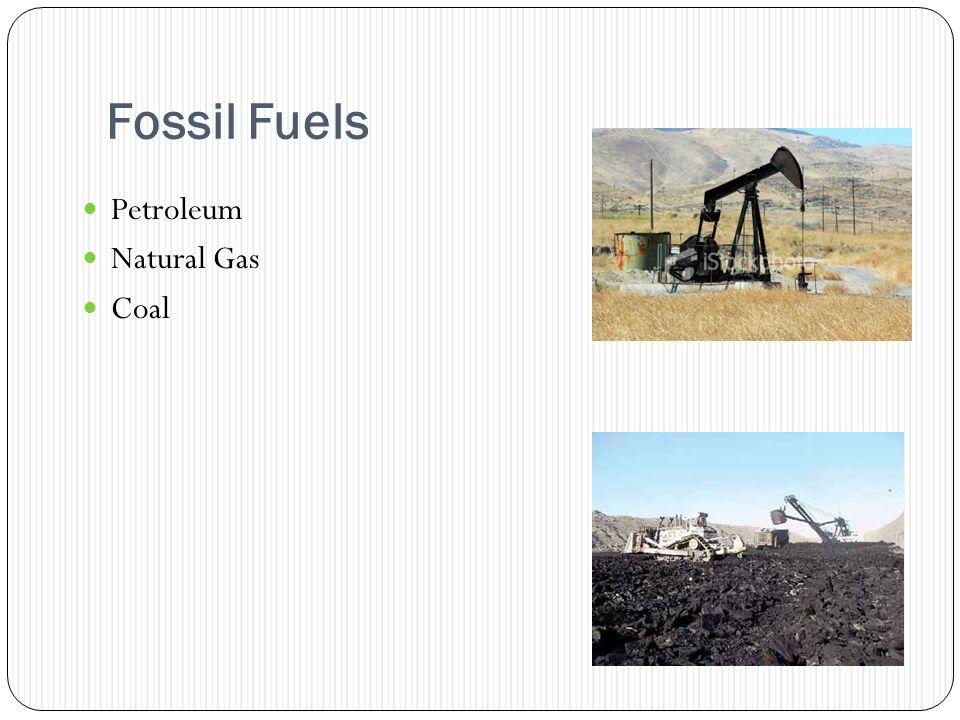 Fossil Fuels Petroleum Natural Gas Coal