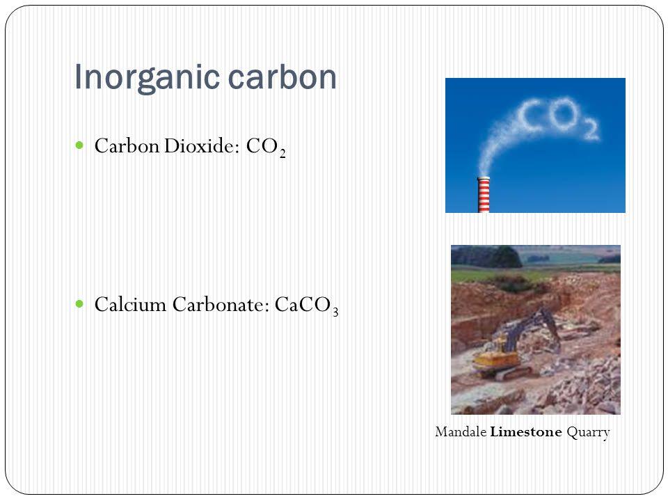 Inorganic carbon Carbon Dioxide: CO 2 Calcium Carbonate: CaCO 3 Mandale Limestone Quarry