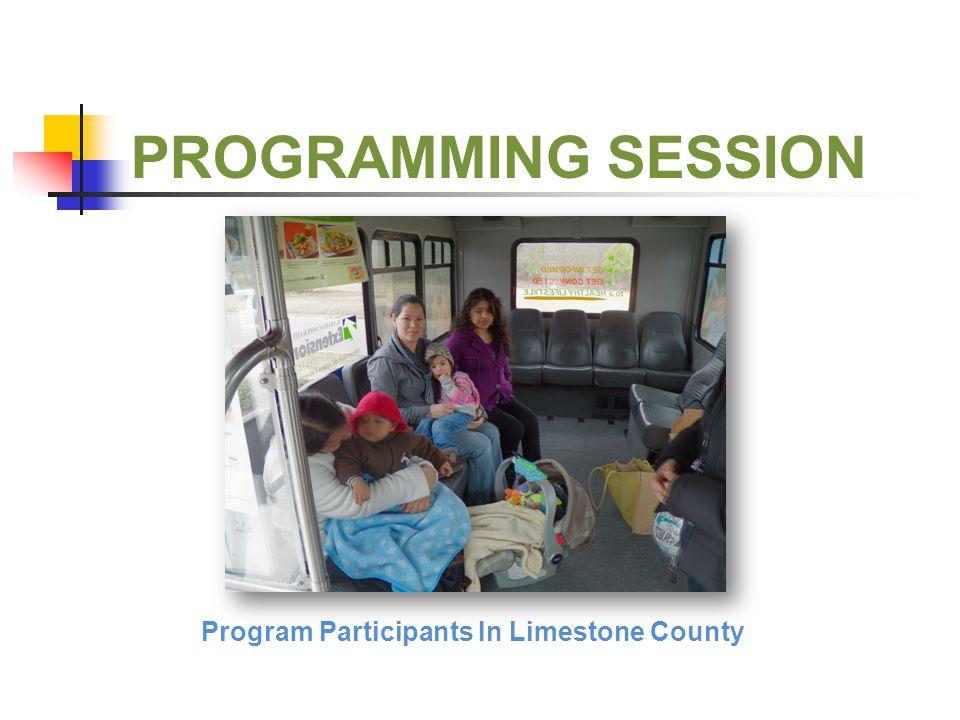 PROGRAMMING SESSION Program Participants In Limestone County