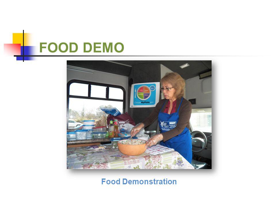 FOOD DEMO Food Demonstration